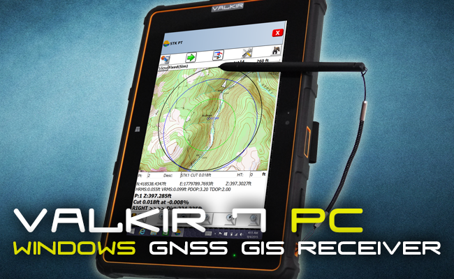 North Valkir 7 GPS Windows Android Rugged Tablet